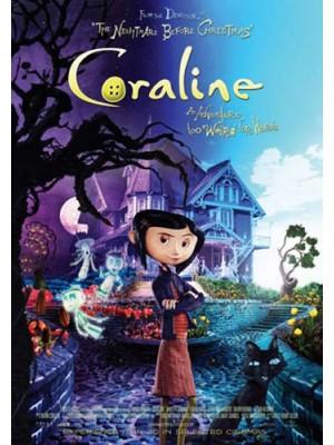 ct1265 : หนังการ์ตูน Coraline โครอลไลน์กับโลกมิติพิศวง DVD 1 แผ่น