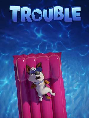 ct1342 : หนังการ์ตูน Trouble ตูบทรอเบิล ไฮโซจรจัด DVD 1 แผ่น