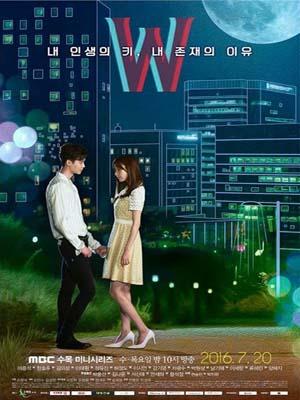 krr1607 : ซีรีย์เกาหลี W-Two Worlds รักข้ามมิติ (พากย์ไทย) DVD 4 แผ่น