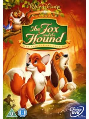 am0134 : หนังการ์ตูน The Fox and The Hound เพื่อนแท้ในป่าใหญ่ DVD 1 แผ่น
