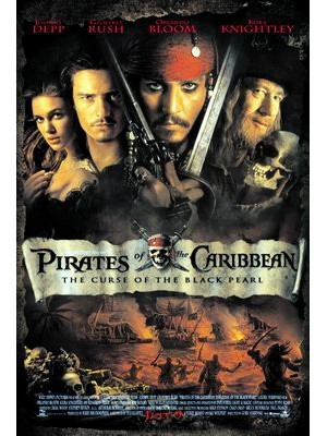 P048 : Pirates Of The Caribbean: The Curse Of The Black Pearl (1) DVD 1 แผ่น