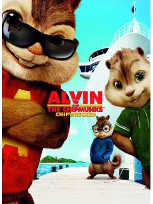 ct1293 : หนังการ์ตูน Alvin And The Chipmunks 3 Chipwrecked อัลวินกับสหายชิพมังค์จอมซน 3 DVD 1 แผ่น